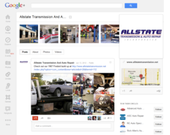 Google+ Page For Allstate Transmission And Auto Repair of Phoenix, AZ.