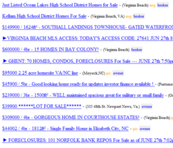 Searching Craigslist for Virginia Beach and Hampton Roads Homes and Condos