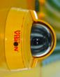 Safety Vision stop arm camera mounted on a Blue Bird school bus