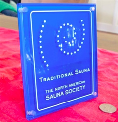 North American Sauna Society Traditional Sauna Plaque