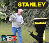 stanley wood chipper, stanley wood chippers, stanley chipper shredder, stanley chipper shredders