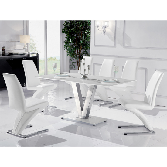 White Dining Room Tables And Chairs: FurnitureInFashion Launches Pure White Dining Table