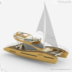 Wave Catamaran Cruiser Yacht by Roberta Visintin