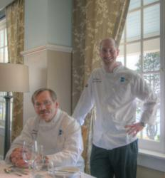 Executive Chef Stiles and Sous Chef Weinerth at Spruce Point Inn