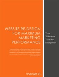 b2b Website Best Practices, website redesign eBook by Market8