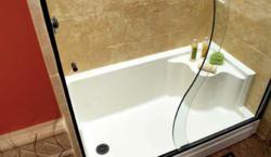 ReBath's Seated Shower Base