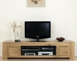 separation shoes d07ad bb742 Oak Furniture King Launch Kuba Solid Oak Widescreen TV Cabinet