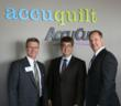 U.S. Congressman Lee Terry helped inaugurate AccuQuilt's new quilting headquarters in Omaha, Nebraska. (With Steve Nabity, AccuQuilt's CEO, on left and Greg Gaggini, AccuCut's President, on right.)