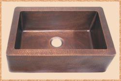 Apron Front copper kitchen sink by CKS