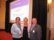 (L to R) Kari Bedell, Greater Washington Society of CPAs (GWSCPA) Executive Director, Christine Colburn, CPA, and George Whitehouse, CPA, of Payroll Network, Inc. celebrate Payroll Network's award.