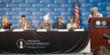 From Left to Right: Katrina Lantos Swett (USCIRF Chairperson), Dr. Ahsanullah Zafar (National President, Ahmadiyya Muslim Community USA), His Holiness Mirza Masroor Ahmad (worldwide Khalifa), Rep. Kei