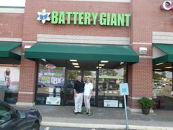 Mike and Dawn Creekmore at their Little Rock, Arkansas Battery Giant location.