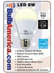BulbAmerica.com LED Bulb Label