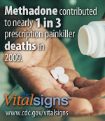 Methadone contributed to nearly 1 in 3 painkiller prescription deaths in 2009