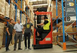 Tim Kierath, Ben, Kierath and James Kierath in Hoselink's warehouse in Bookvale, NSW