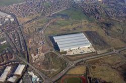 Aerial of the new 616,000sq ft warehouse for JD Sports