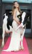 Rozanna Purcell, former Miss Universe Ireland with Pedigree Holstein Friesian, Knockmaroon Frieda at the launch of the Baileys Irish Champion Cow Competition which takes place on 22 August at the Virg