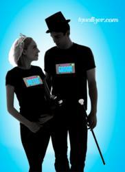 The Brand New FlashWear Anim8 Bride and Groom Shirts