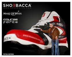 "Peter Mayhew (""Chewbacca"" from Star Wars) loves Shoebacca's ""Big Shoe"""