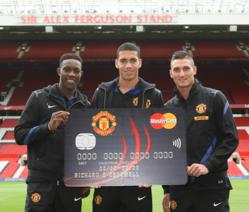 Manchester United Credit Card launch with Welbeck, Smalling and Macheda