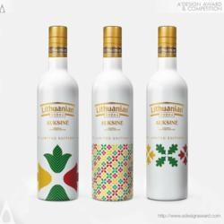 Lithuanian Vodka Gold Limited Edition Vodka Bottle by Edvardas Kavarskas