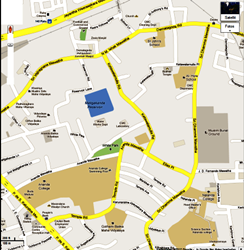 Map of embassy of thailand in colombo, Sri Lanka
