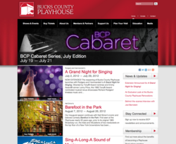 Bucks County Playhouse Website Home Page