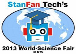 StanFan Tech's 2013 World Science Fair logo