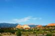 A clear blue Colorado sky over Garden of the Gods on July 4