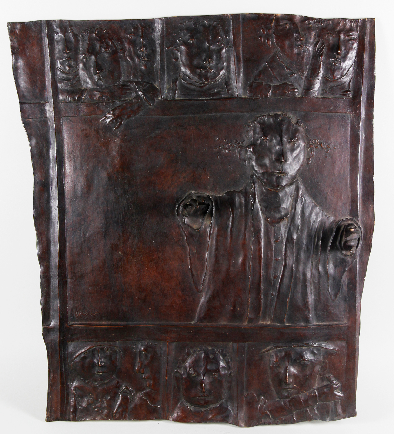 david aronson lithuanian b1923 bronze plaque - Aronson Furniture