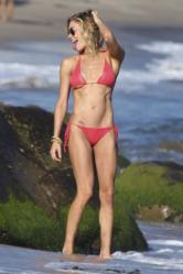 LeAnn Rimes in A Musotica.com Coral Crochet Bikini