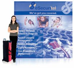 tradeshow booth tension fabric pop up display