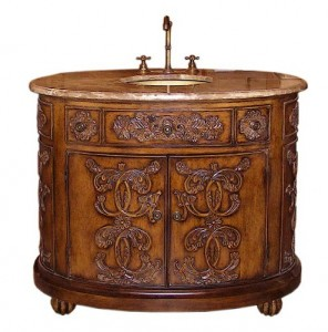 Lavish Antique Bathroom Vanities For A Decadent Period Style Bathroom