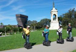 Golden Gate Park Segway Tours gliding near the DeYoung Museum