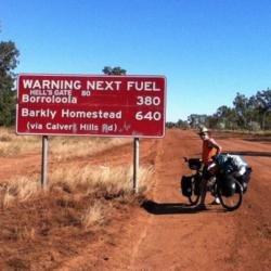 """Super Mike battling the Outback...... passing through """"Hell's Gate"""""""