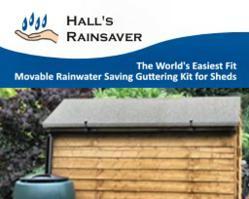 Hall's Rainsaver - The easy alternative to rain diverters