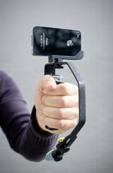 Picosteady video camera stabilizer with iPhone