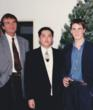 Author Harrison Cheung with Christian Bale and his late father, David Bale