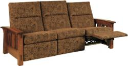 Plush upholstery and a Mission style mark the McCoy Sofa Recliner.