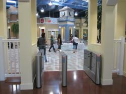 GlassGate 200 optical turnstiles secure Vocus headquarters lobby
