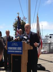 Governor Jerry Brown Speaks on Port of Oakland Grant