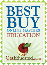 Affordable Online Degrees|Masters in Education|Best Buy Online Masters Logo from Get Educated