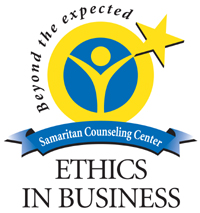 Lancaster Pa Samaritan Counseling Center Ethics in Business Award Logo