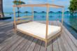 solid wood oak bed