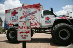 The Whambulance Monster Truck Ambulance from First Choice Emergency Room