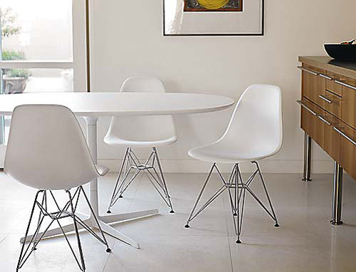 Molded Plastic Eiffel Side Chair By Charles And Ray EamesMolded Plastic  Eiffel Side Chair By Charles And Ray Eames ...