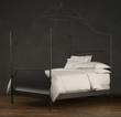 19th Century Campign Iron Canopy Bed from Restoration Hardware