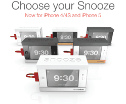 Snooze iPhone Alarm Clock Dock Stand in Wood and Aluminum