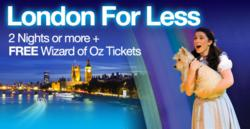 The Wizard of Oz Joins Superbreak's London For Less Package