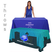 Table Cover Throws - Custom Printed Tradeshow Accessory